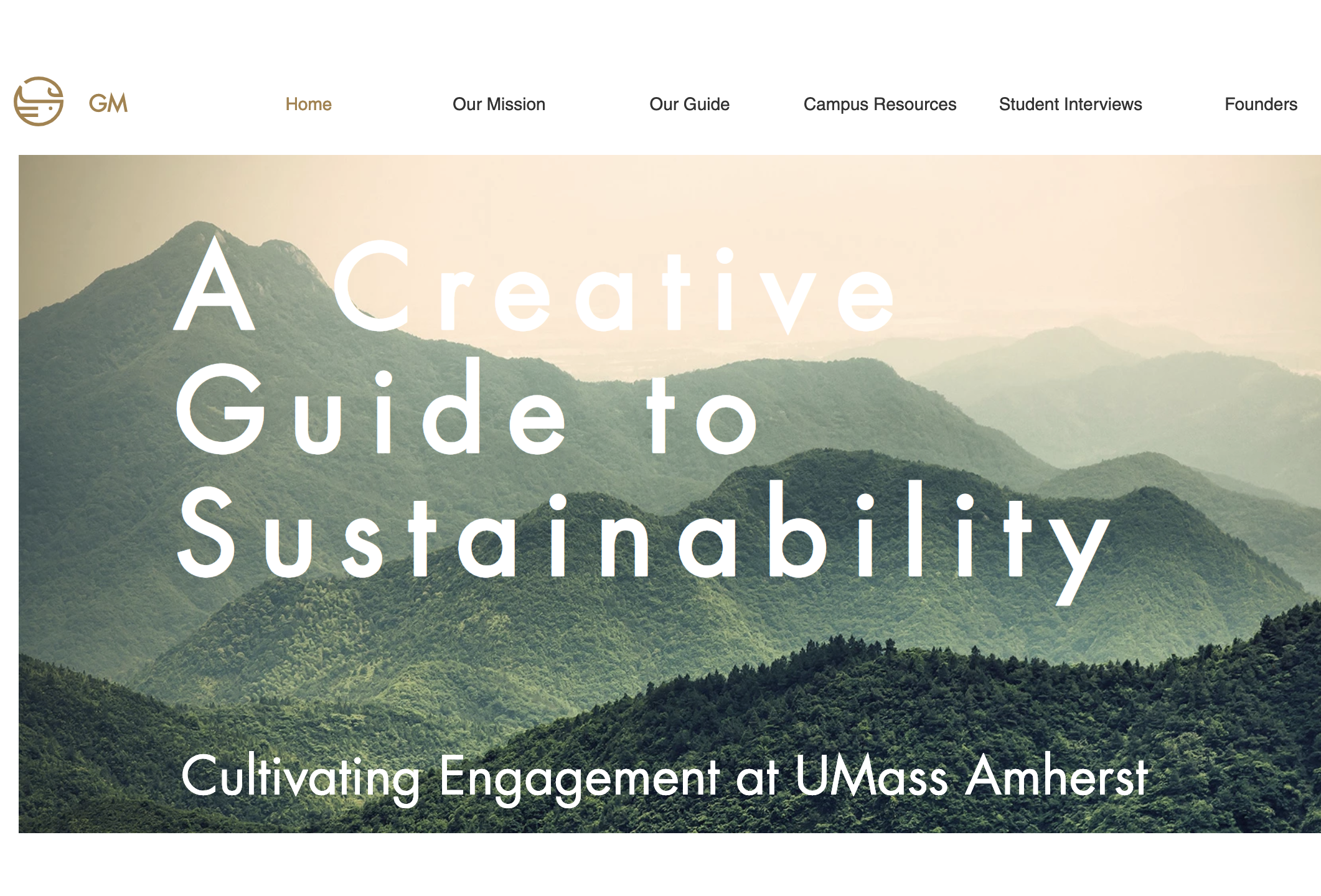 Creative Guide to Sustainability Homepage