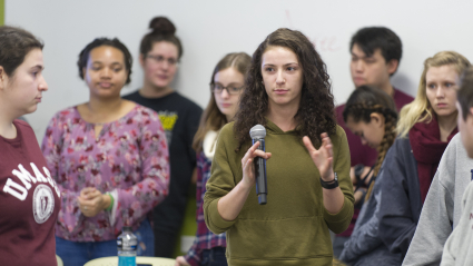Students a tUMass Amherst in a Class Discussion