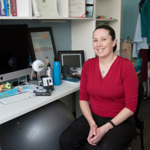 Assistant Professor Torrey Trust in her office