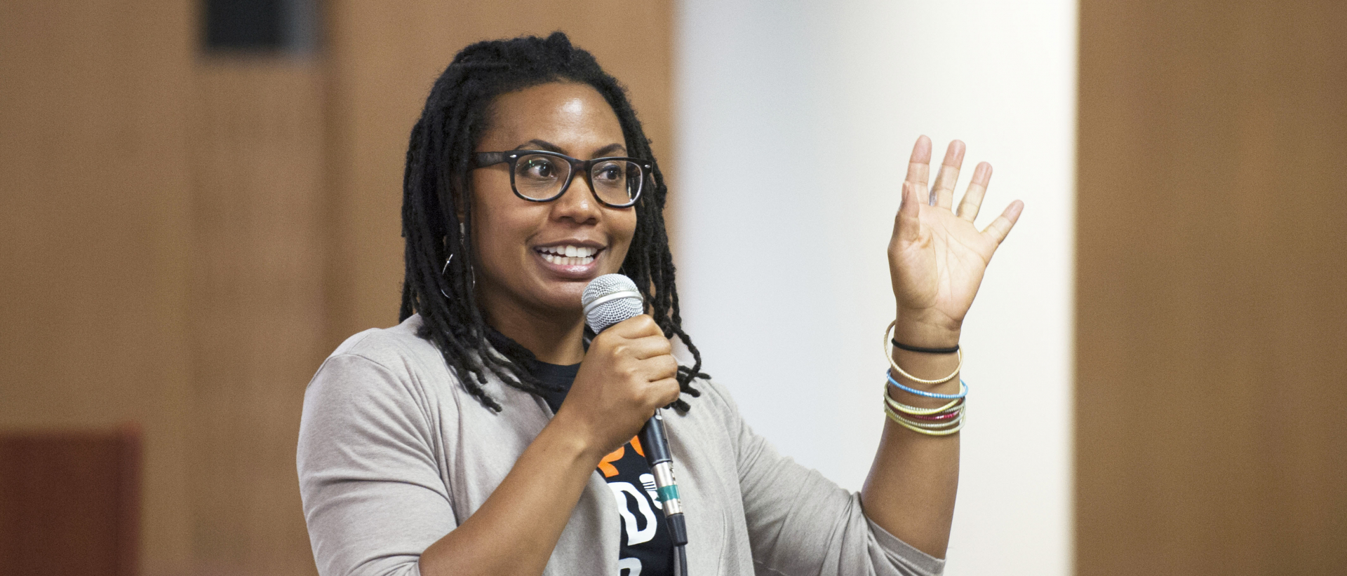Keisha Green speaking at an event