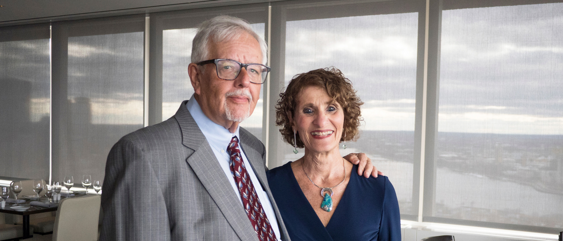 UMass Amherst College of Education alumna Rena Mirkin with husband
