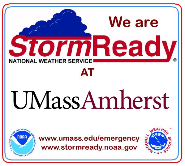 We are StormReady at UMass Amherst - NOAA | National Weather Service