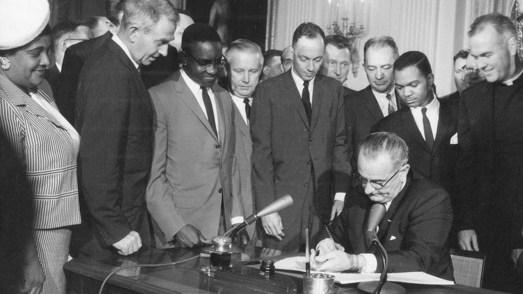Signing of Civil Rights Act