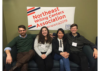 Graduate students and two undergraduate students presenting at NEWCA