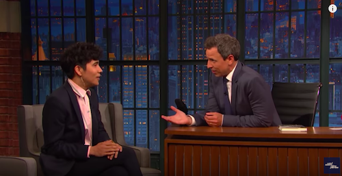 Ocean Vuong on Late Show with Seth Meyers