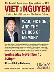 poster of Troy lectured delivered by Viet Thanh Nguyen