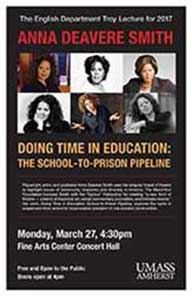 Troy lecture poster with Anna Deavere Smith