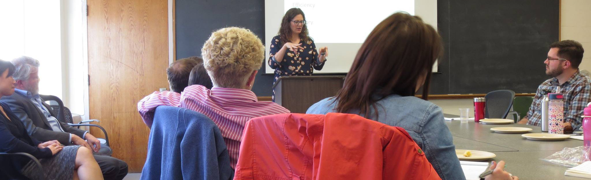 A visiting scholar delivers the Walker Gibson Lecture