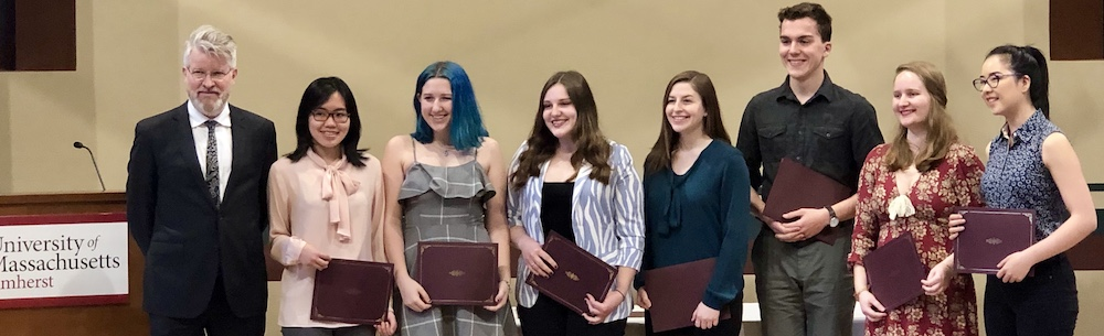 Recipients of Undergrad English Dept. Awards in Spring 2019