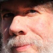 close up of Martin Espada