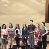 Undergraduate English majors at Awards Ceremony in 2019