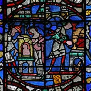 image of stained glass you would see in a cathedral