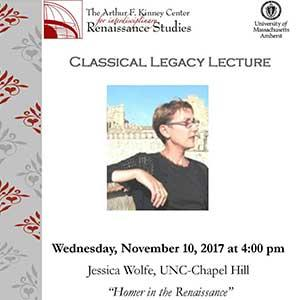 Flyer of Jessica Wolfe lecture