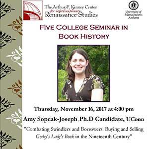 Flyer for Amy Sopcak-Joseph lecture