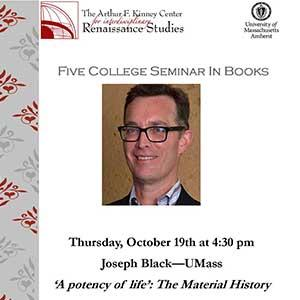 Flyer for Joseph Black lecture