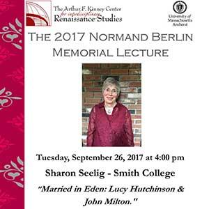 Flyer of Norman Berlin Memorial Lecture