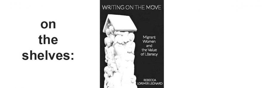"""image of book jacket, """"Writing On The Move"""""""