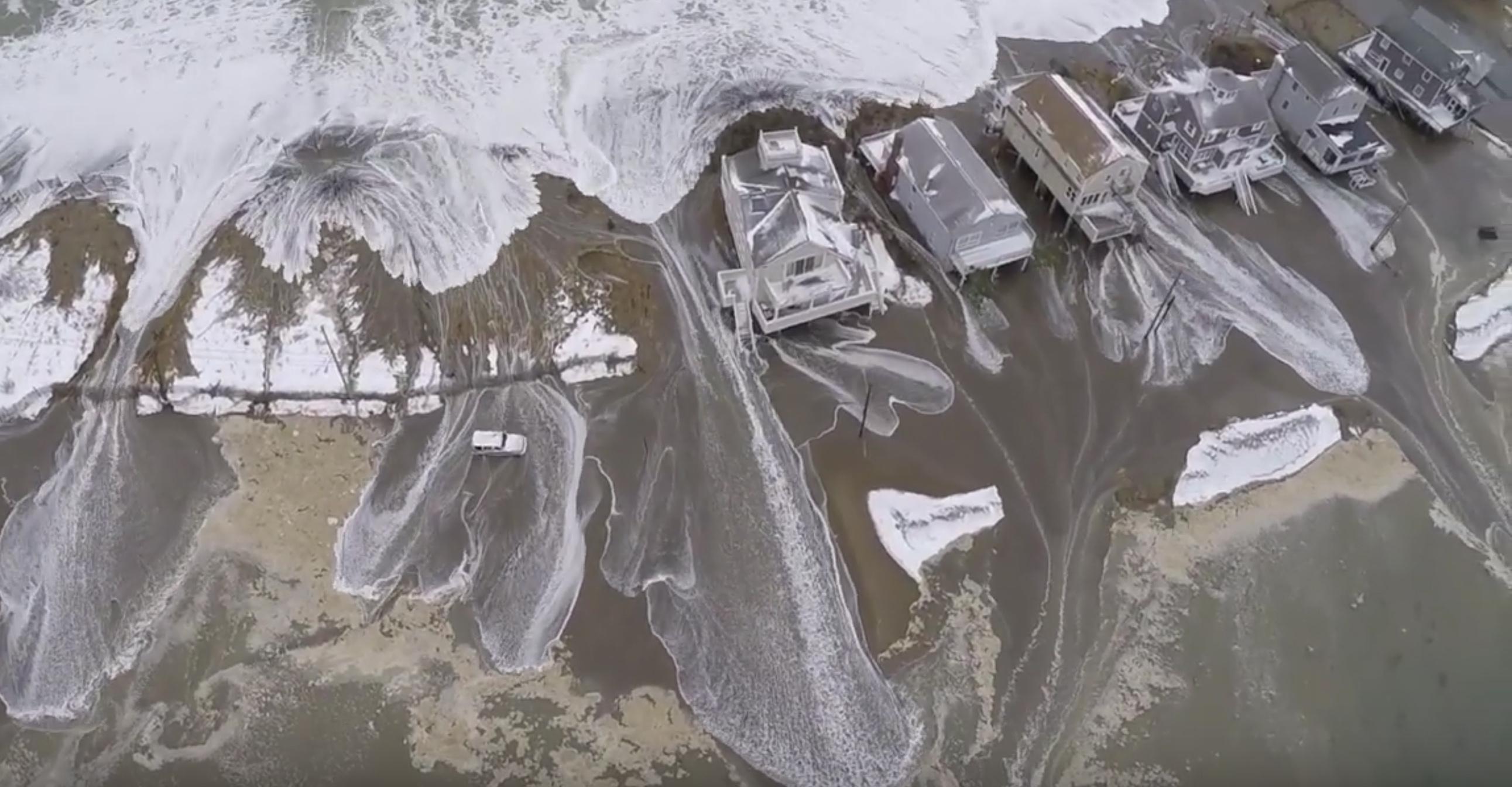 Flooding along the coast of Cape Cod