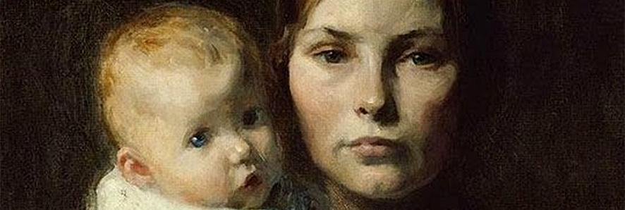 detail of a painting depicting a woman and a baby used as the cover for Lilli de Jong.