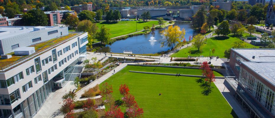 View from Campus Center at UMass Amherst