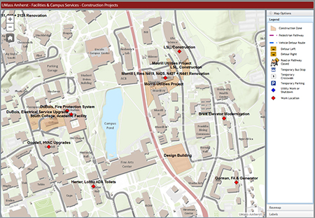 Map Of The Umas Umass Map Alumnimemory Campus Life Social