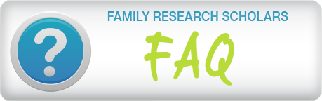 Family Research Scholars FAQ