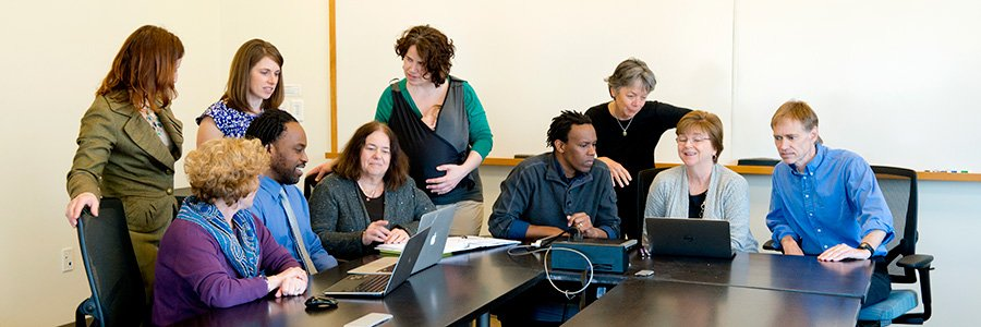 The 2014-15 Family Research Scholars met regularly for mentorship sessions.