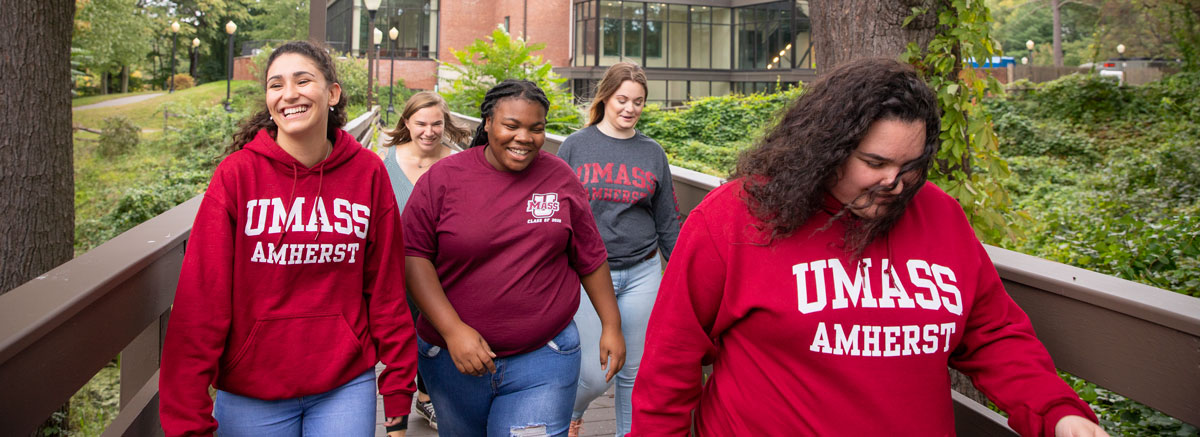 Students at the Mount Ida campus, UMass Amherst