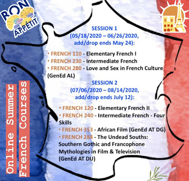 2020 French Summer Online Courses