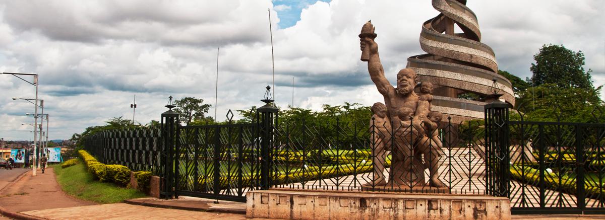 Monument de la réunification by Salomon and Gédéon Mpando (Yaounde, Cameroon)