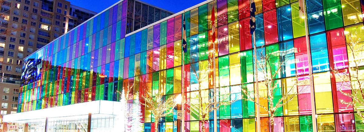 The Palais des congrès de Montréal.