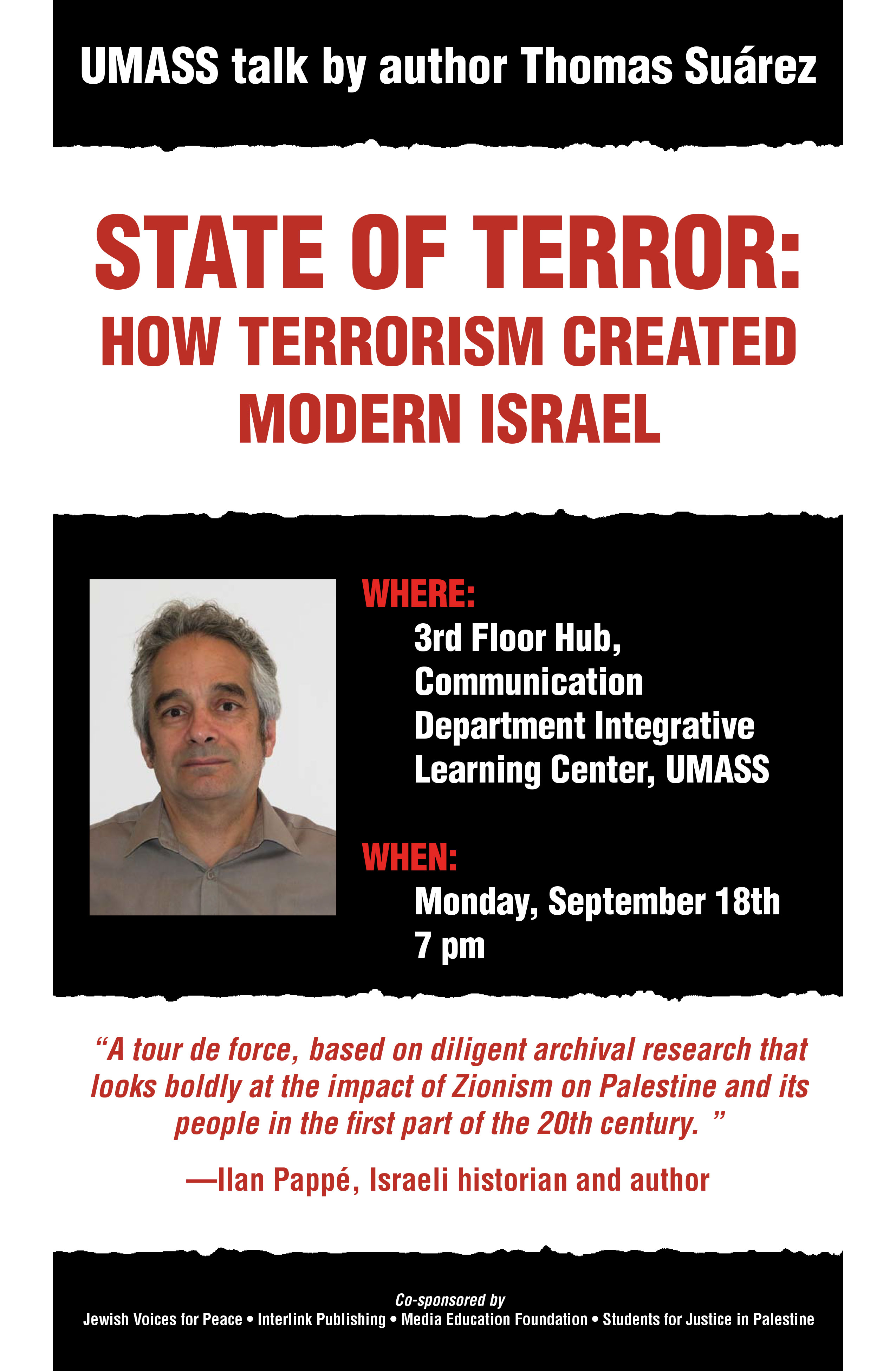 Lecture: 'State of Terror: How Terrorism Created Modern
