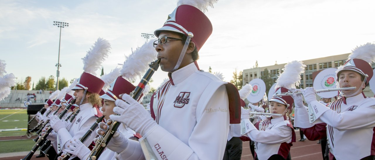 UMass Amherst Minuteman Marching Band in the Parade of Roses