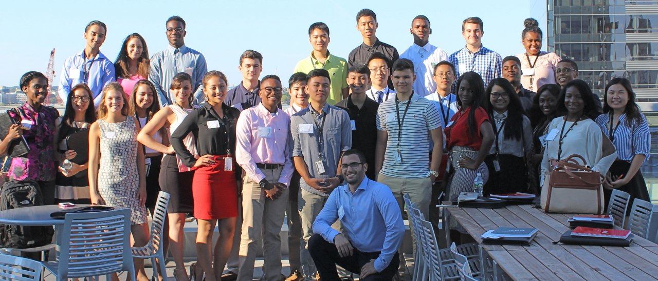 Student participants in the Careers in Accounting and Management Program