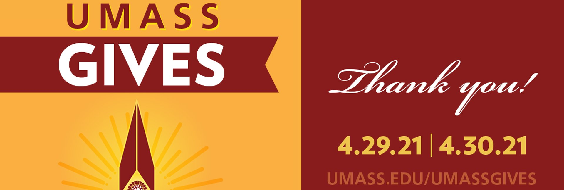 UMass Gives Thank you!