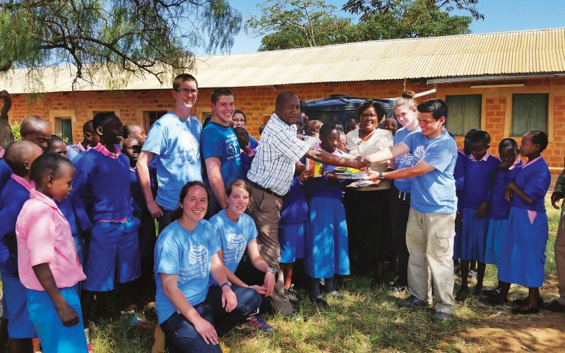 UMass Engineers Without Borders and their Kenyan partners