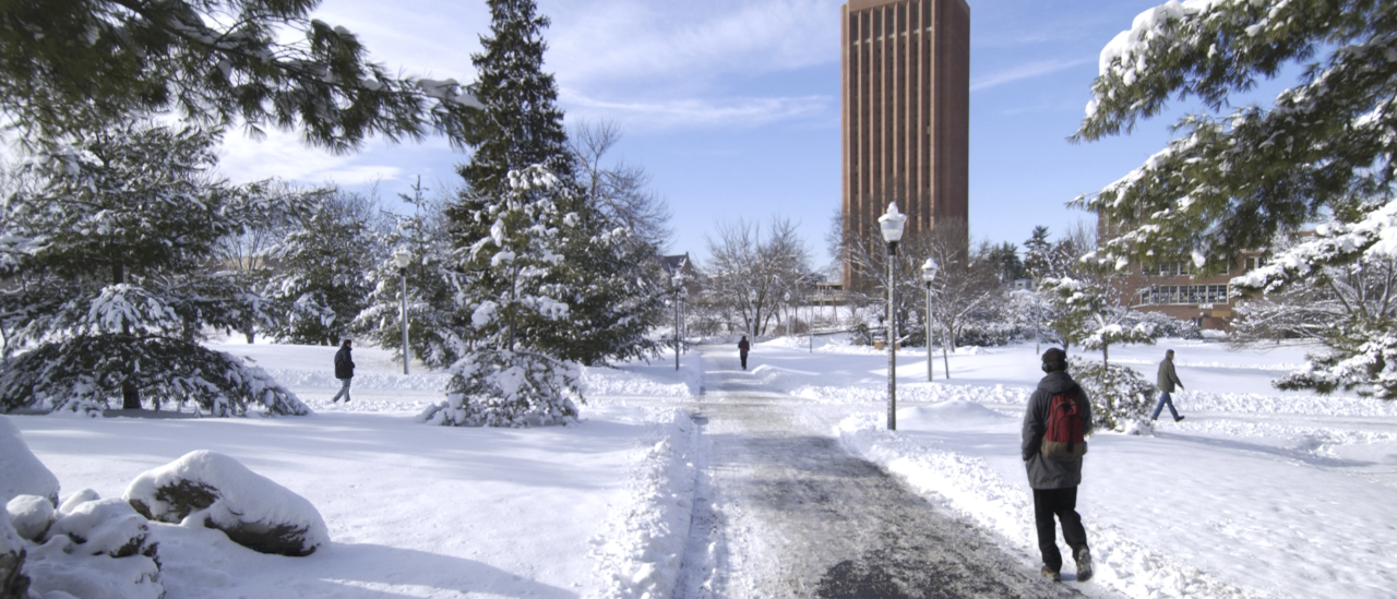 winter campus