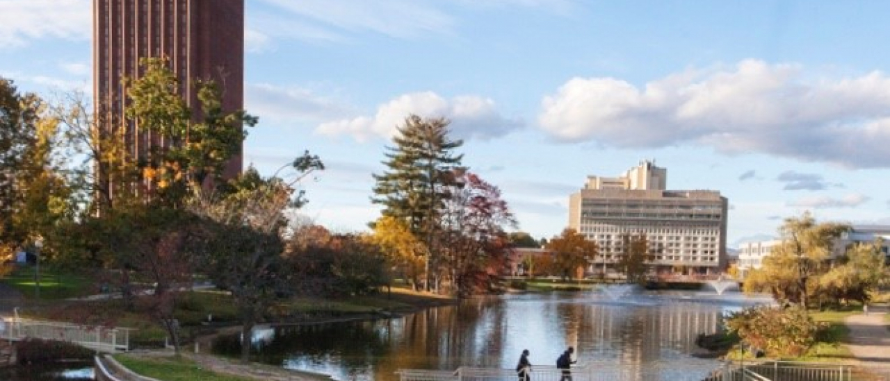 UMass Amherst campus in the Fall