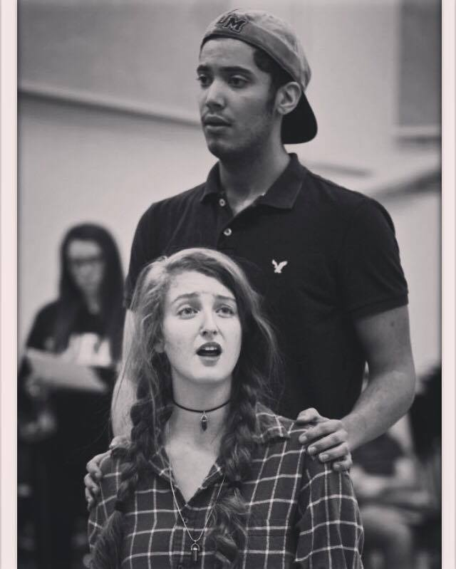 Two students rehearse lead roles in The Pirates of Penzance