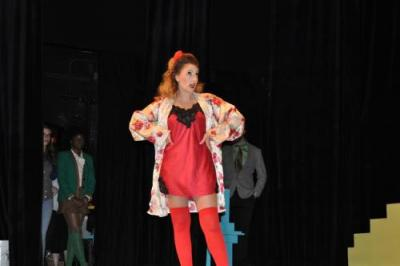 Actress performing in Heathers: The Musical