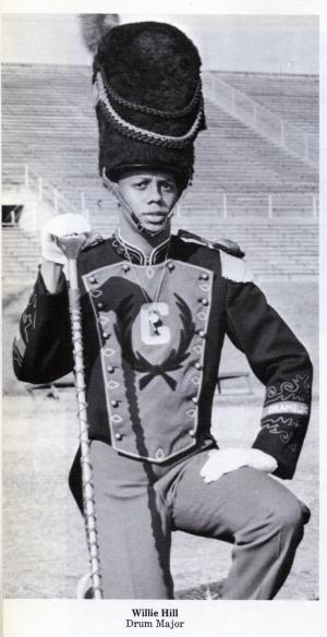 Willie hill as an undergraduate Head Drum Major