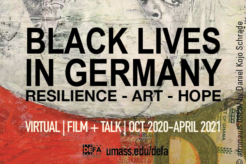 """Detail from """"Black Lives in Germany"""" festival poster."""