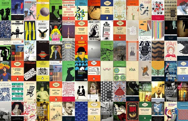 A collage of book covers