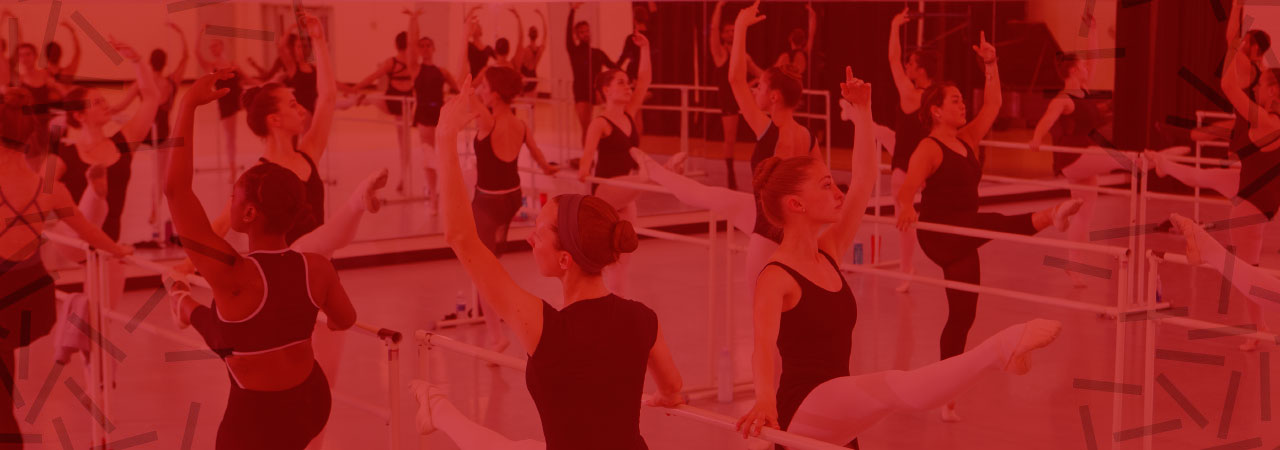 Dancers in class at Totman Gym