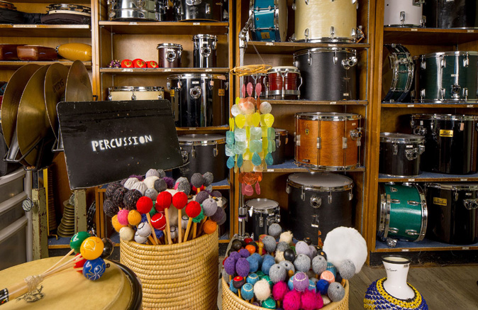 Percussion Room, Music Department, UMass Amherst