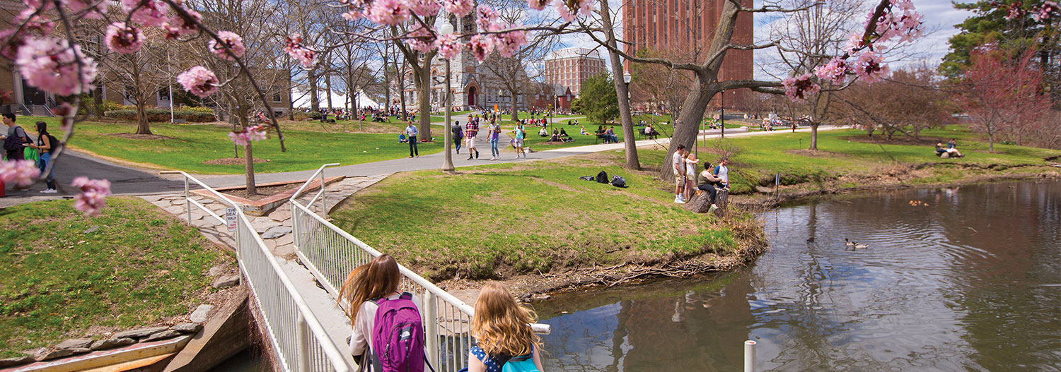 Spring on the UMass Amherst campus.