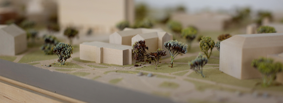Architecture model of houses and landscaping