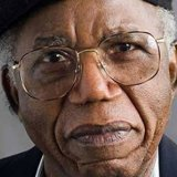 Closeup of writer Chinua Achebe