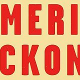 "Close up of red letters spelling out ""American Reckoning"""