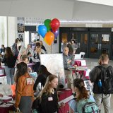 A view of the Arts Internship Fair